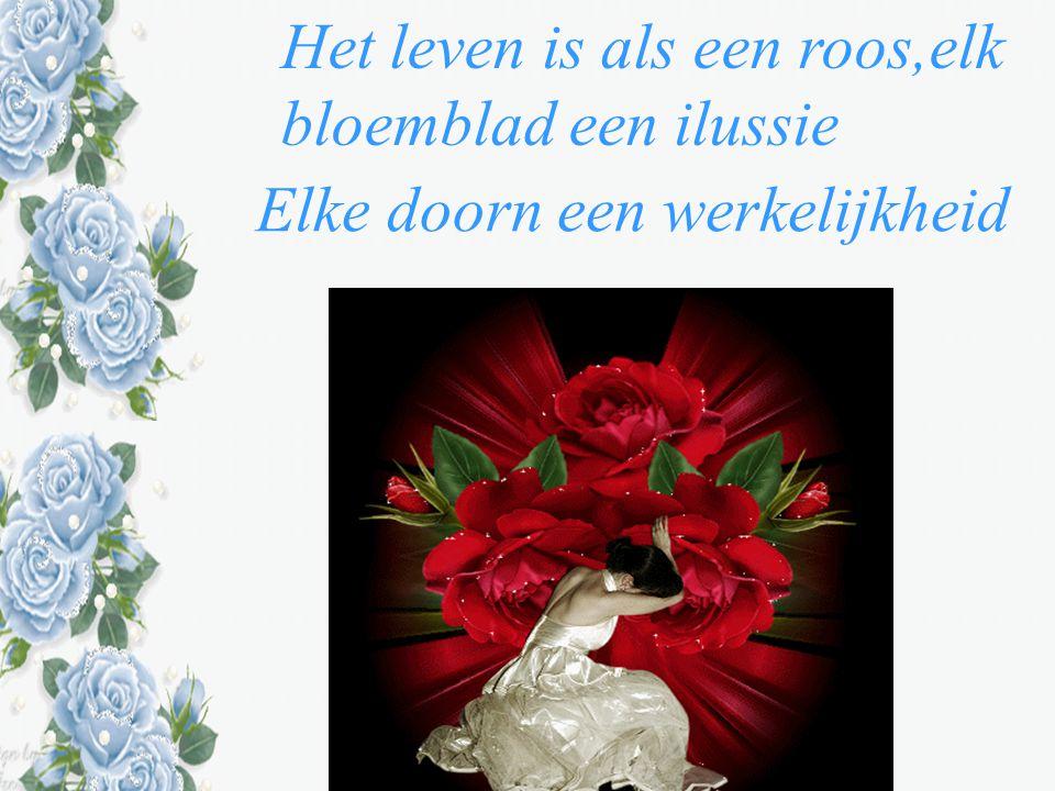 Het leven is als een roos,elk bloemblad een ilussie
