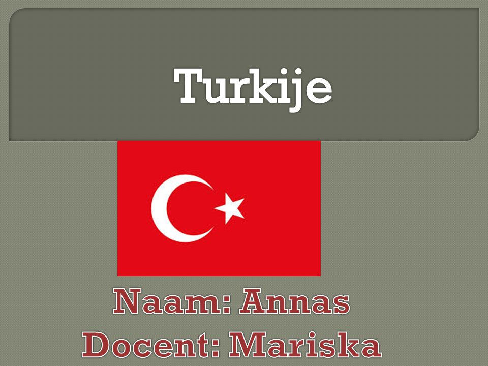 Turkije Naam: Annas Docent: Mariska