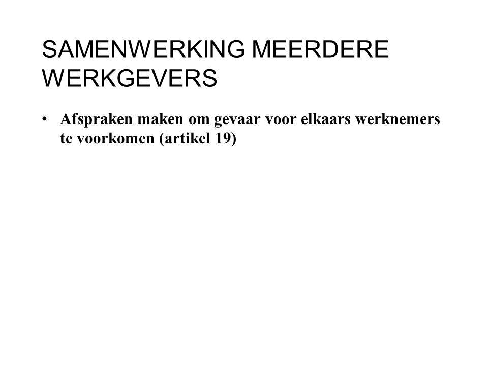 SAMENWERKING MEERDERE WERKGEVERS