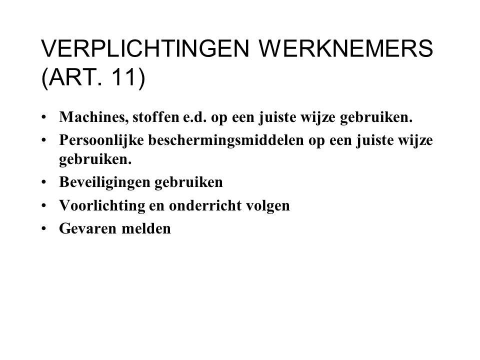 VERPLICHTINGEN WERKNEMERS (ART. 11)
