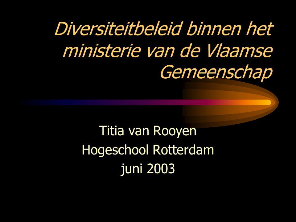 Diversiteitbeleid binnen het ministerie van de Vlaamse Gemeenschap
