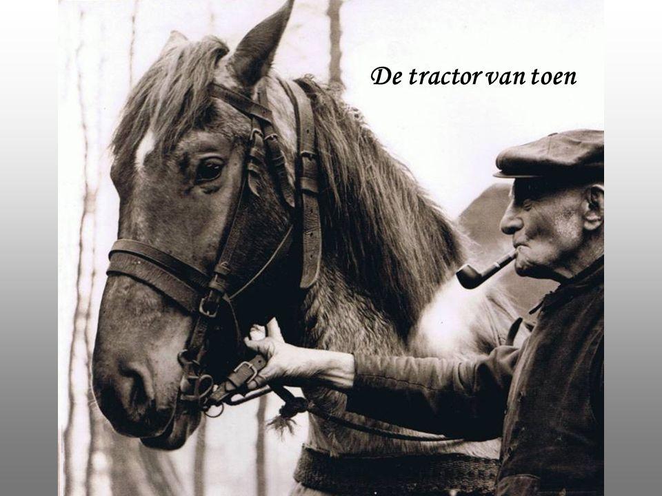 De tractor van toen