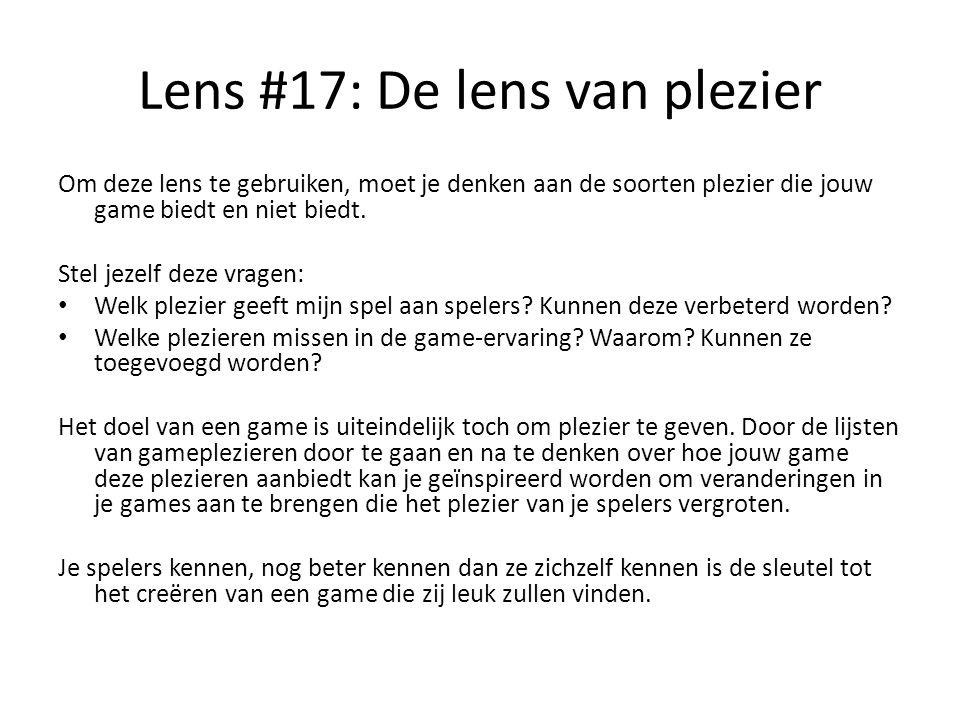 Lens #17: De lens van plezier