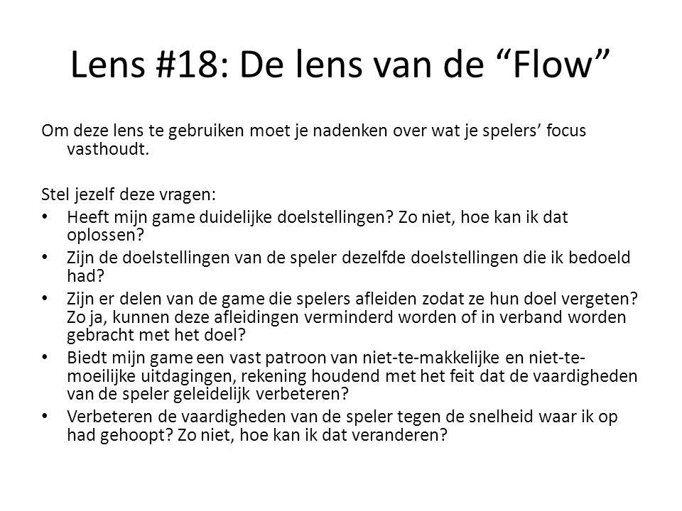 Lens #18: De lens van de Flow