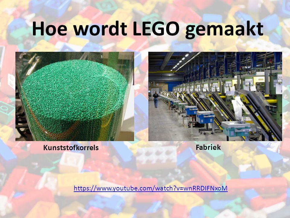 Hoe wordt LEGO gemaakt Kunststofkorrels Fabriek