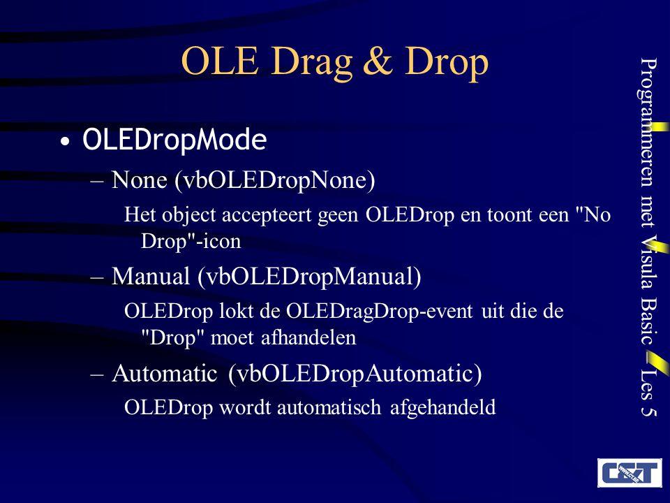 OLE Drag & Drop OLEDropMode None (vbOLEDropNone)