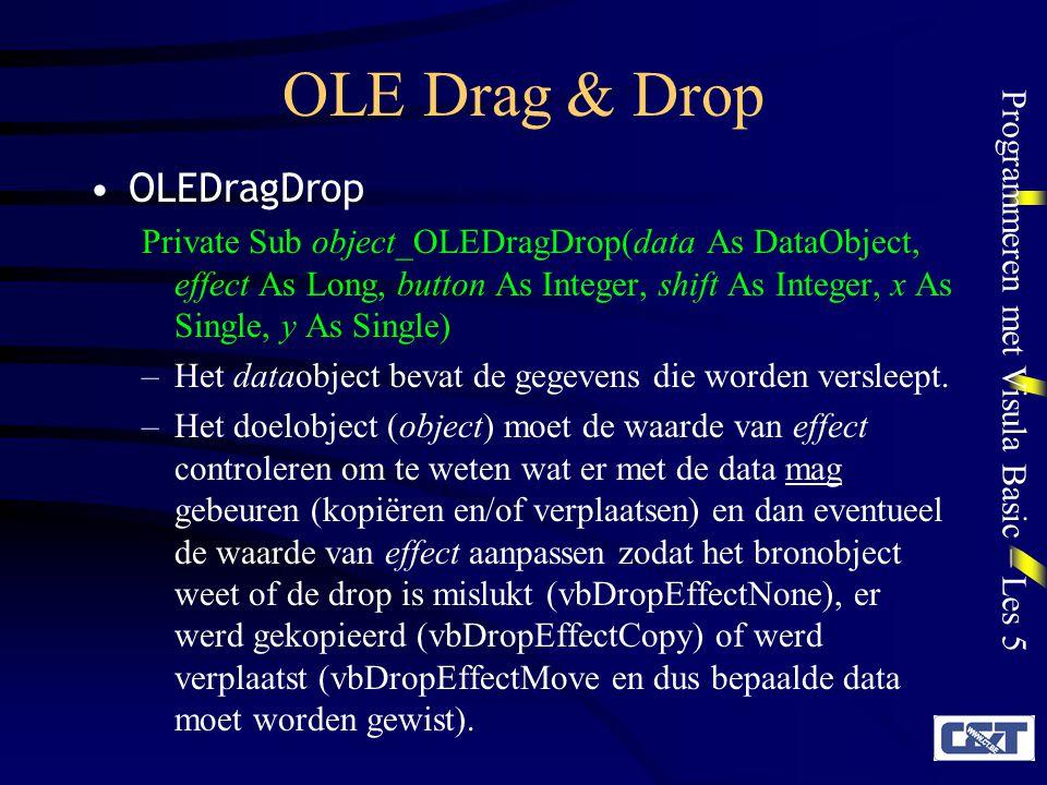 OLE Drag & Drop OLEDragDrop