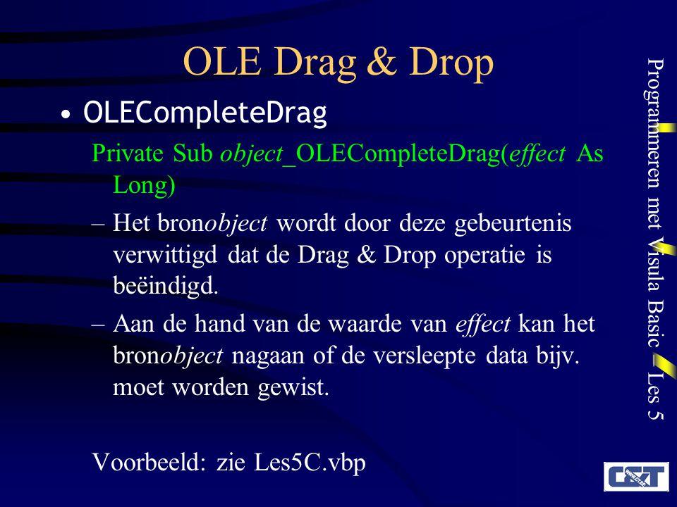 OLE Drag & Drop OLECompleteDrag