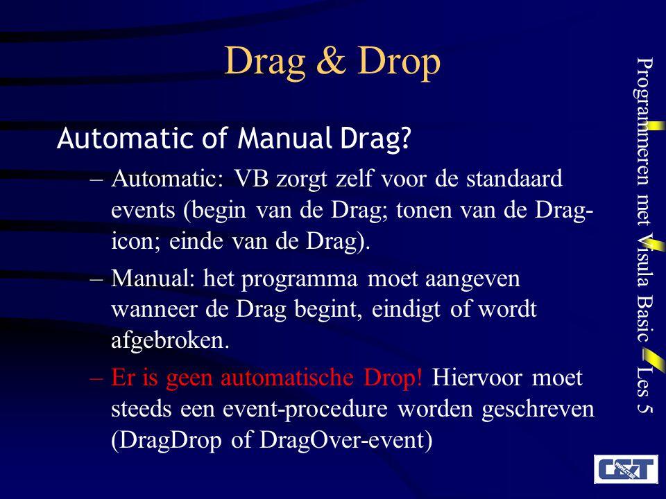 Drag & Drop Automatic of Manual Drag