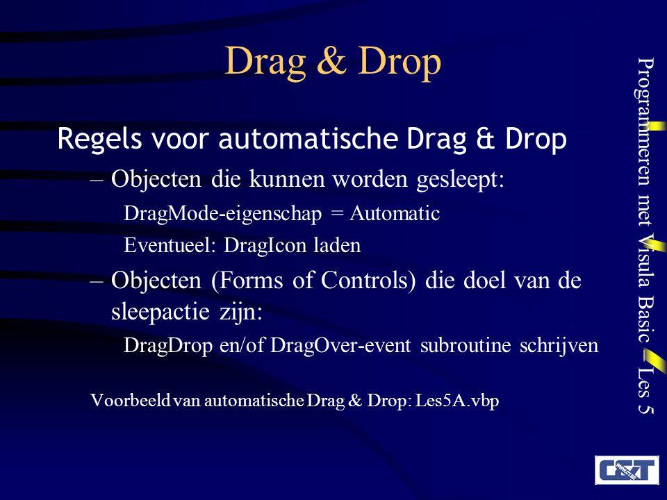 Drag & Drop Regels voor automatische Drag & Drop