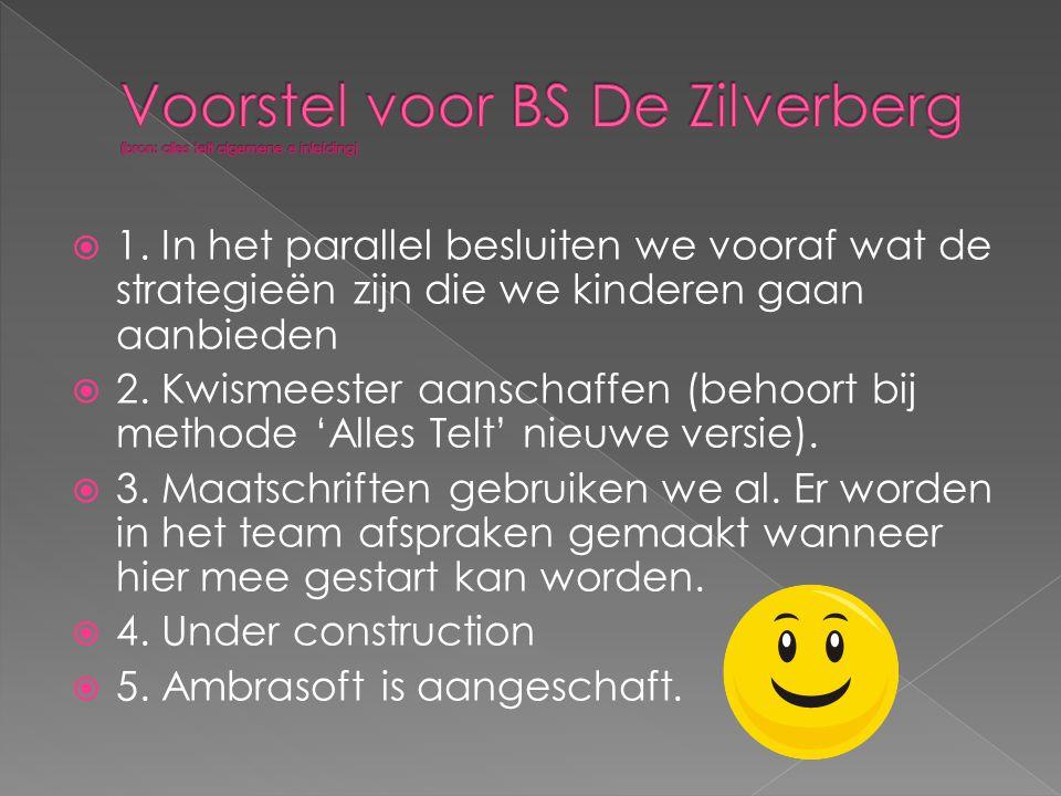 Voorstel voor BS De Zilverberg (bron: alles telt algemene e inleiding)