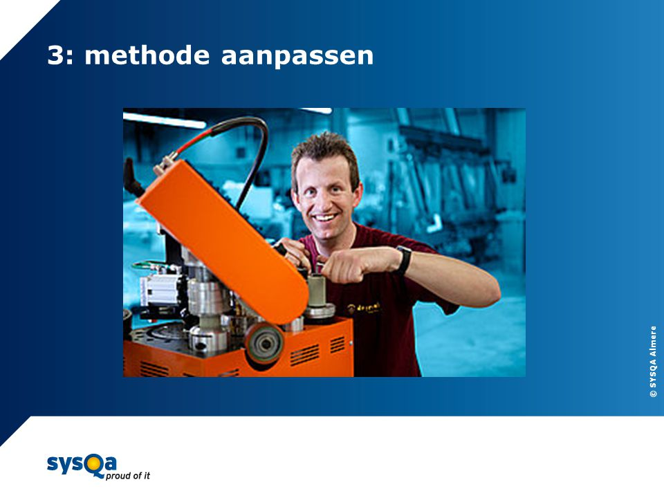 3: methode aanpassen