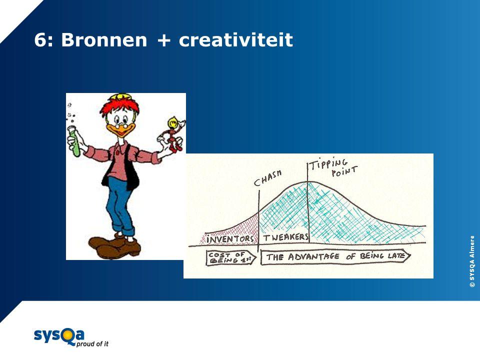 6: Bronnen + creativiteit