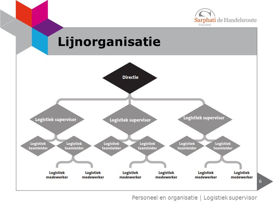 Lijnorganisatie Personeel en organisatie | Logistiek supervisor