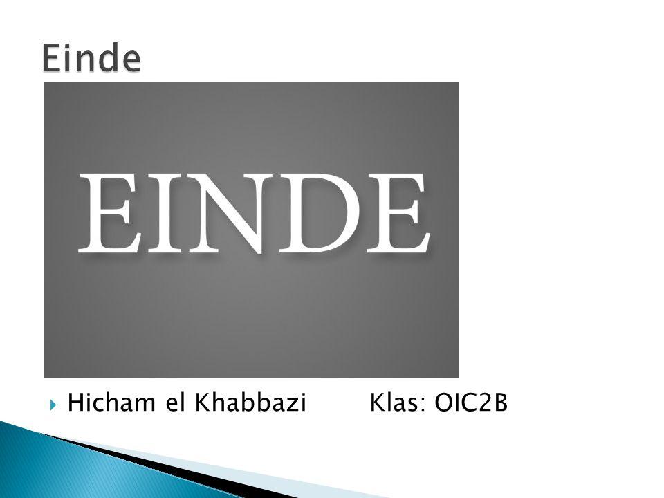 Einde Hicham el Khabbazi Klas: OIC2B