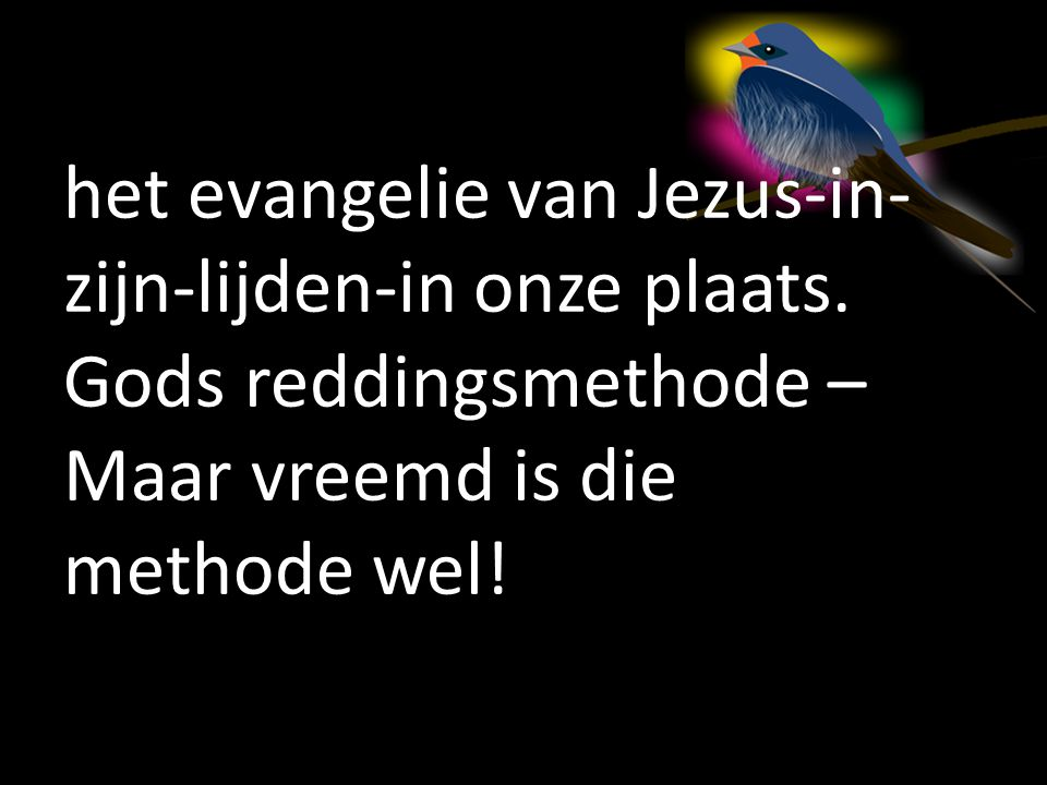 het evangelie van Jezus-in-zijn-lijden-in onze plaats