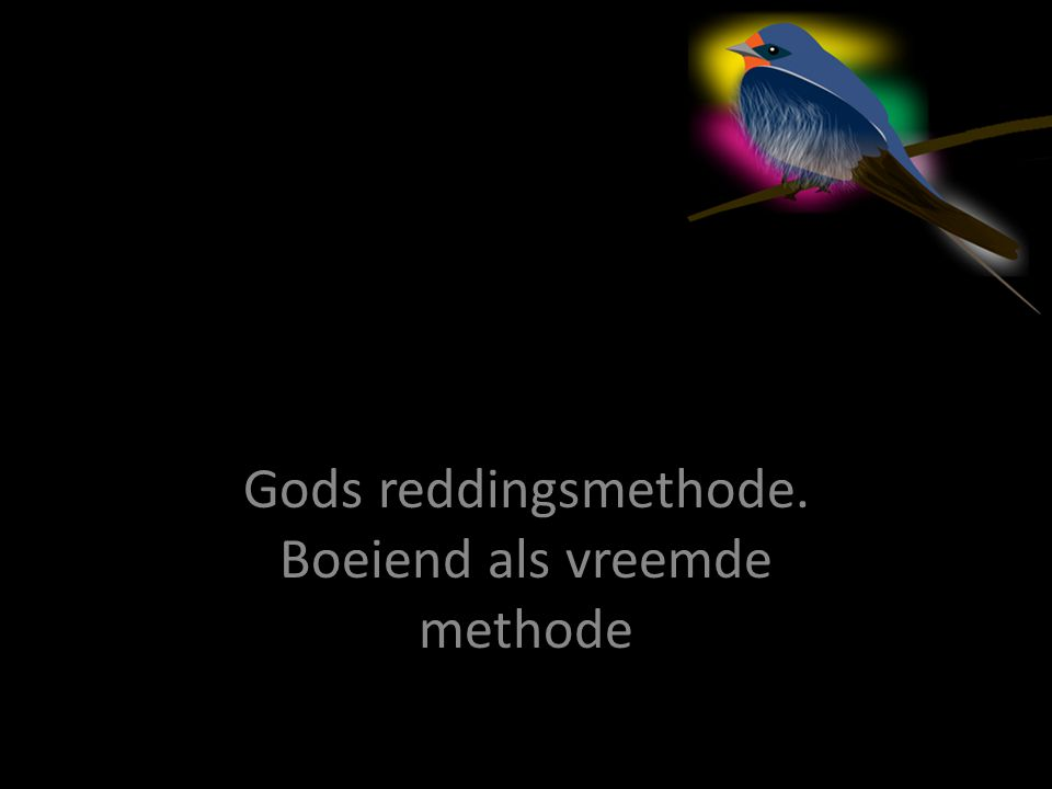Gods reddingsmethode. Boeiend als vreemde methode