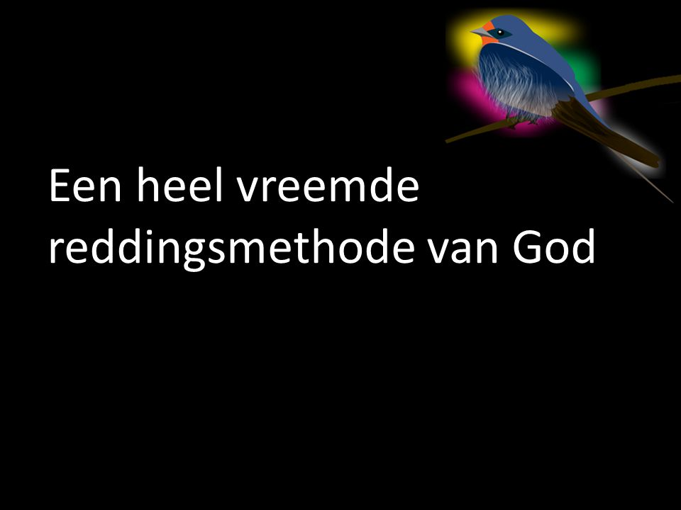 Een heel vreemde reddingsmethode van God
