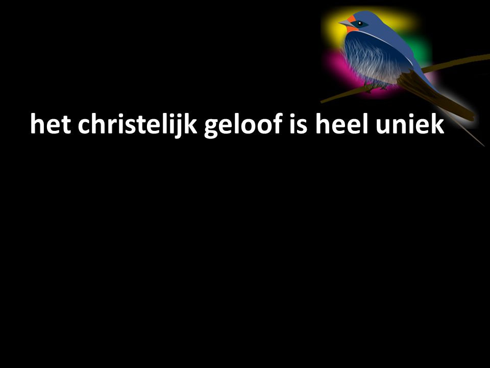 het christelijk geloof is heel uniek