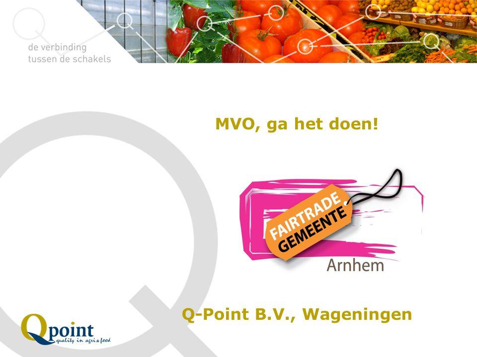 MVO, ga het doen! Q-Point B.V., Wageningen