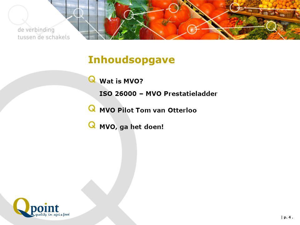 Inhoudsopgave Wat is MVO ISO 26000 – MVO Prestatieladder