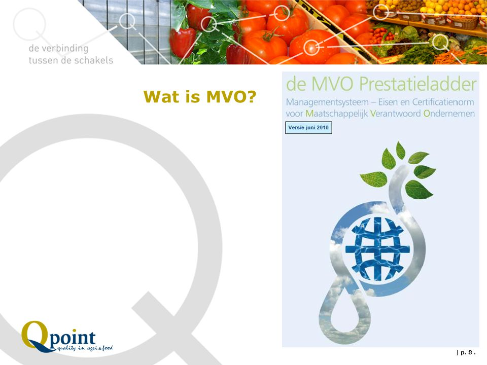 Wat is MVO | p. 8 .