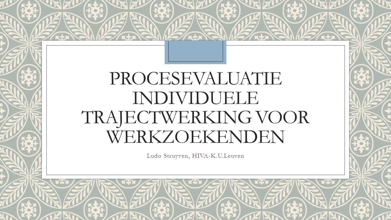Procesevaluatie individuele trajectwerking voor werkzoekenden