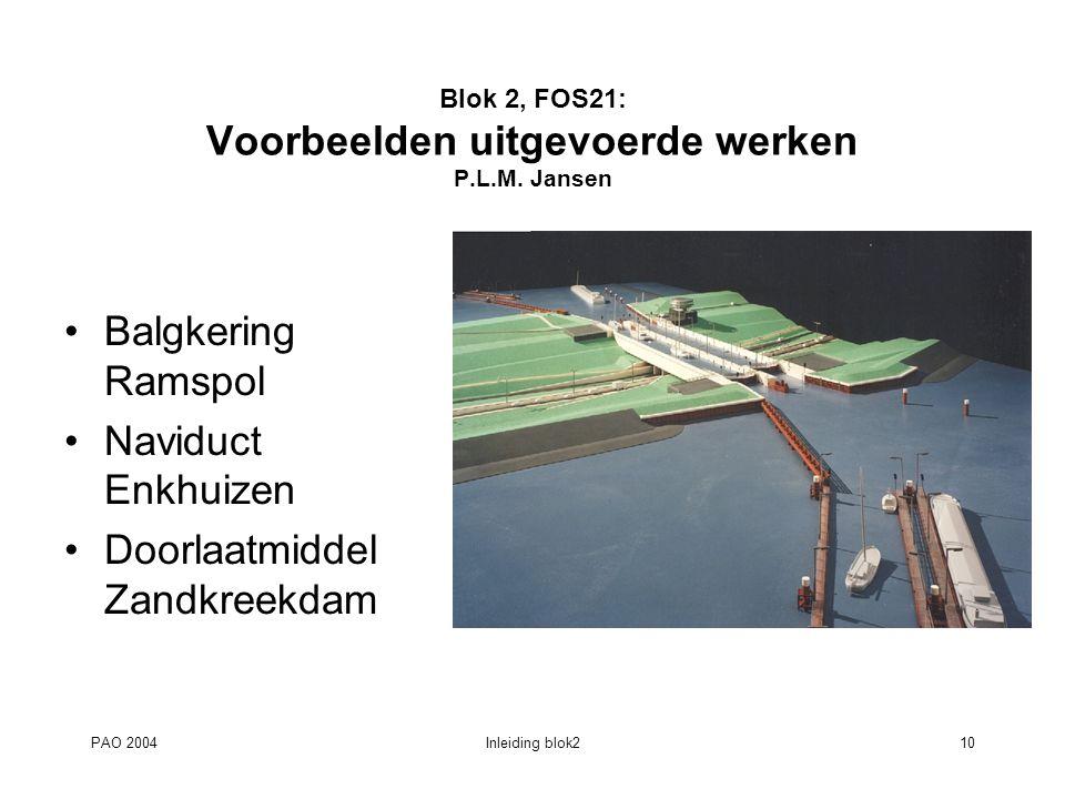 Blok 2, FOS21: Voorbeelden uitgevoerde werken P.L.M. Jansen