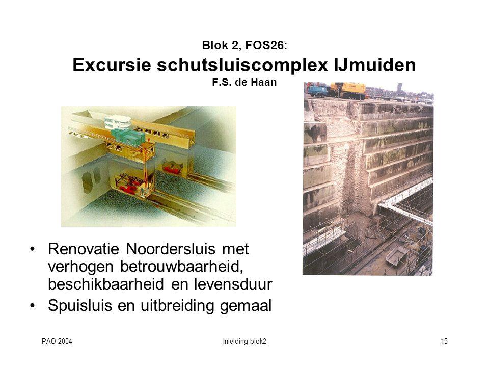Blok 2, FOS26: Excursie schutsluiscomplex IJmuiden F.S. de Haan
