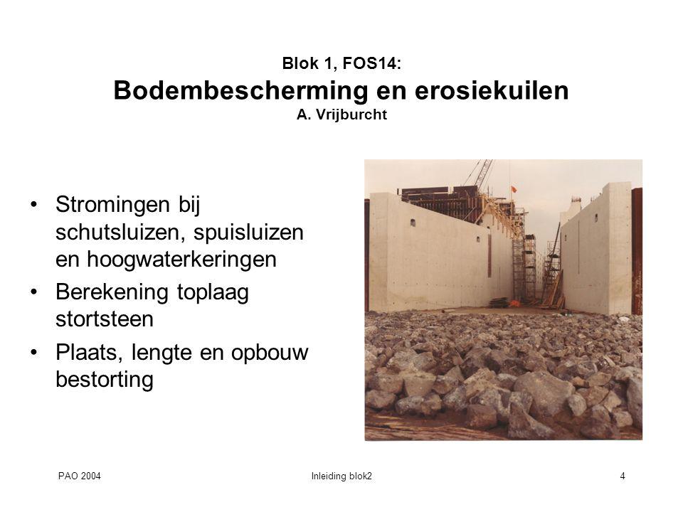 Blok 1, FOS14: Bodembescherming en erosiekuilen A. Vrijburcht