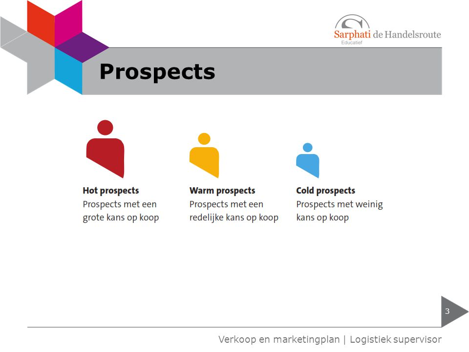 Prospects Verkoop en marketingplan | Logistiek supervisor