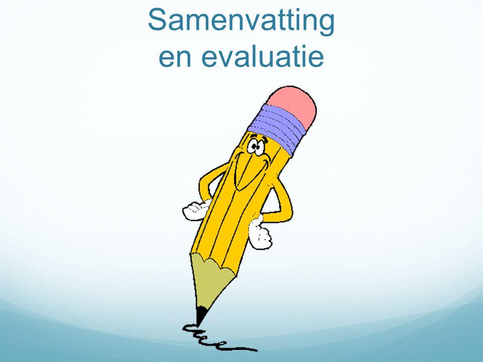 Samenvatting en evaluatie