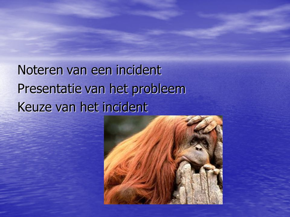 Noteren van een incident