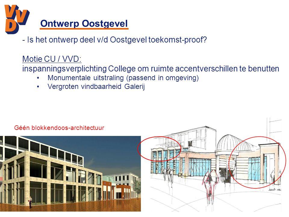 Ontwerp Oostgevel - Is het ontwerp deel v/d Oostgevel toekomst-proof