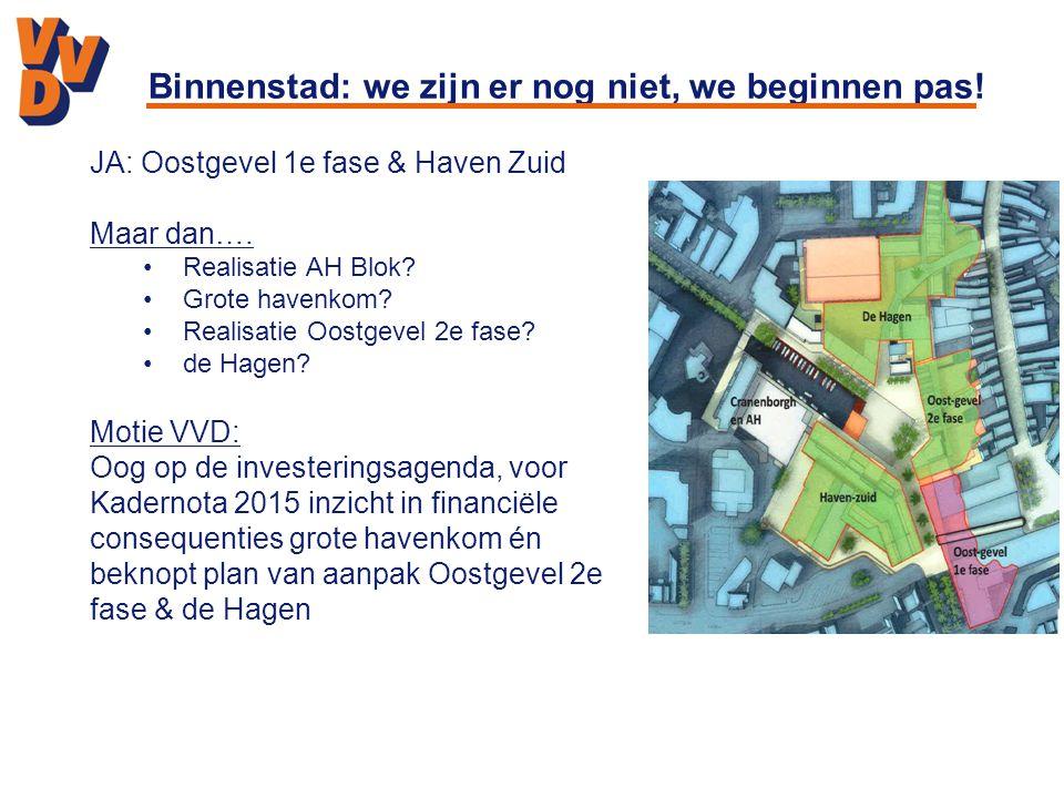 Binnenstad: we zijn er nog niet, we beginnen pas!