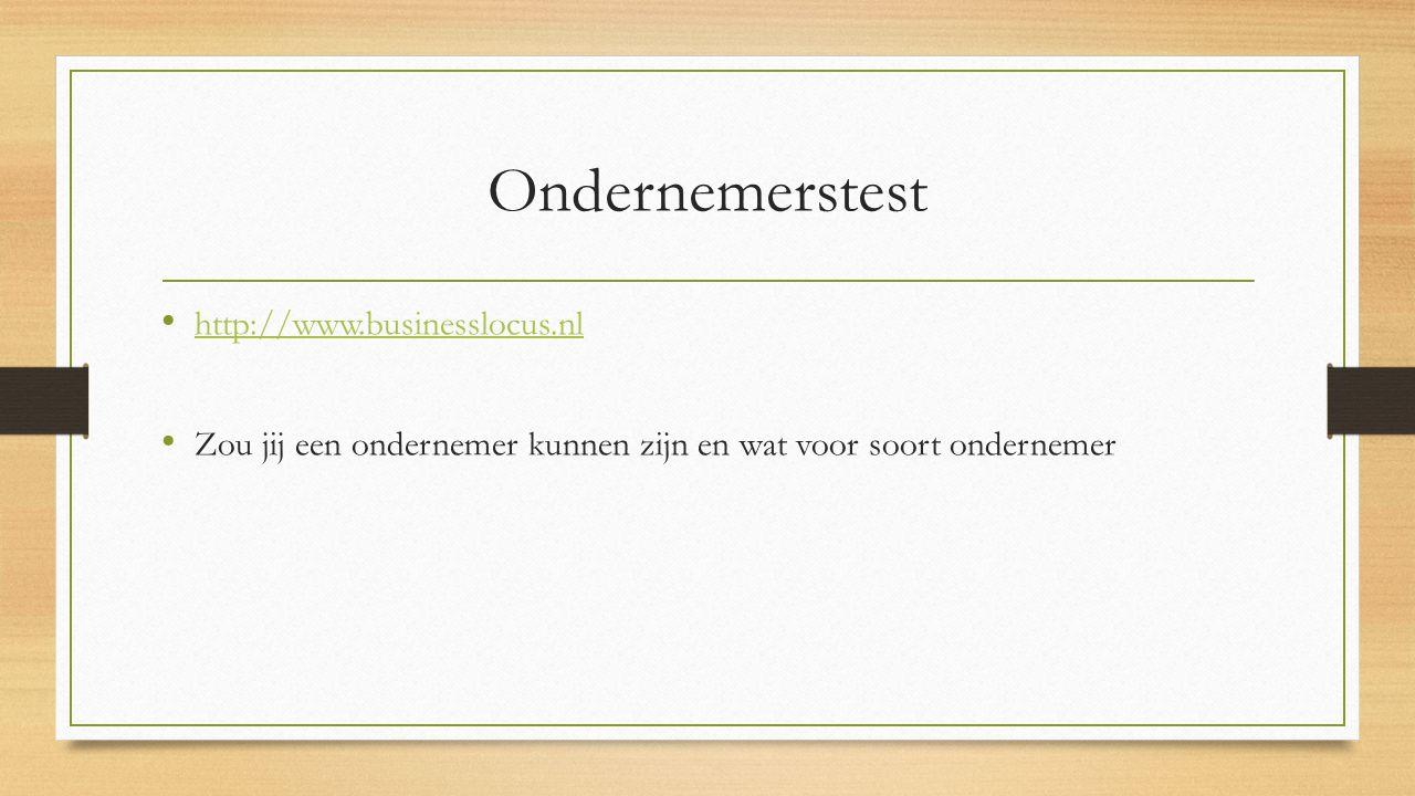Ondernemerstest http://www.businesslocus.nl