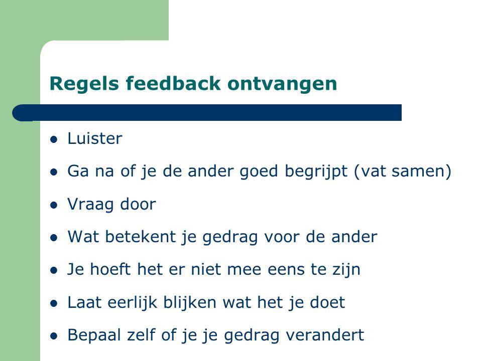 Regels feedback ontvangen