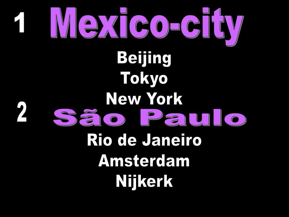 Mexico-city 1 Beijing Tokyo New York Rio de Janeiro Amsterdam Nijkerk 2 São Paulo