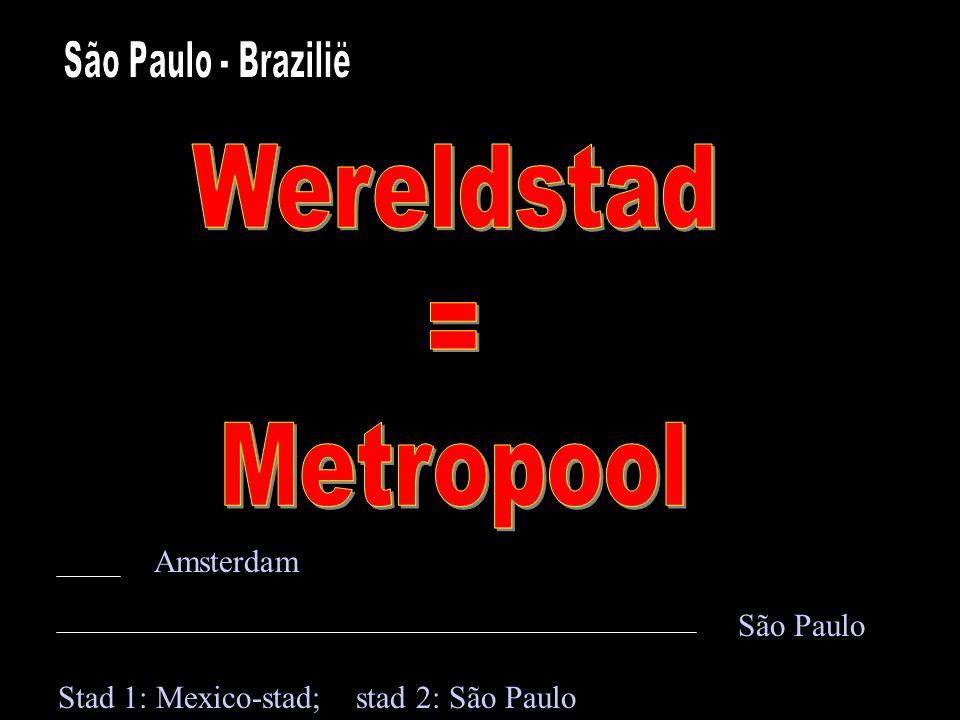 Wereldstad = Metropool Amsterdam São Paulo