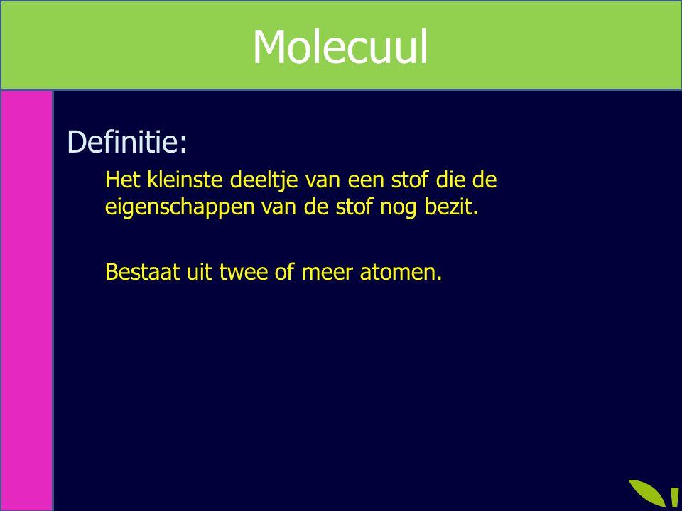 Molecuul Metriek Definitie: