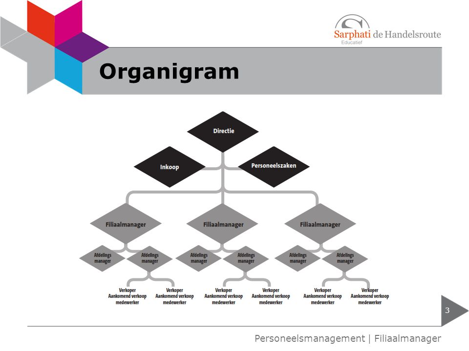 Organigram Personeelsmanagement | Filiaalmanager