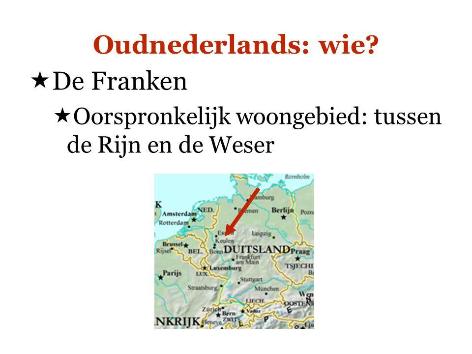 Oudnederlands: wie De Franken
