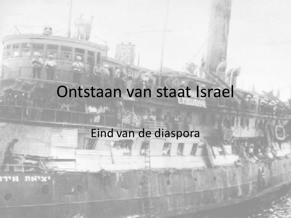 Ontstaan van staat Israel