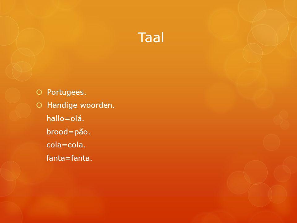 Taal Portugees. Handige woorden. hallo=olá. brood=pão. cola=cola.