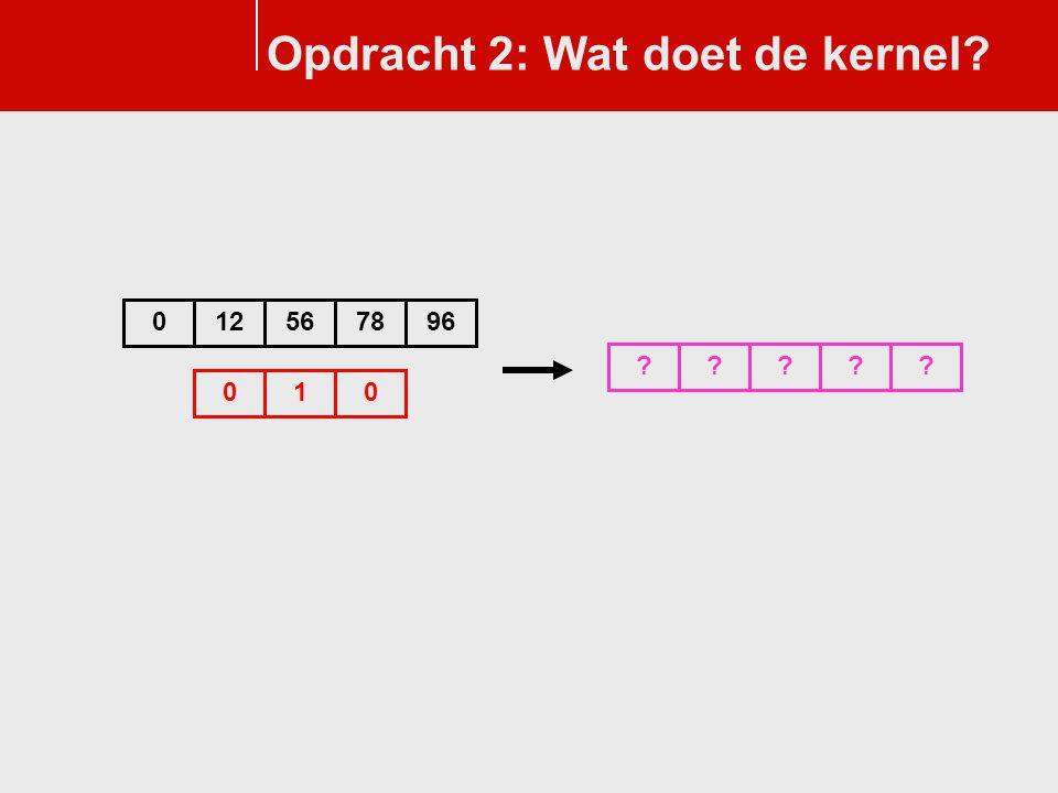 Opdracht 2: Wat doet de kernel