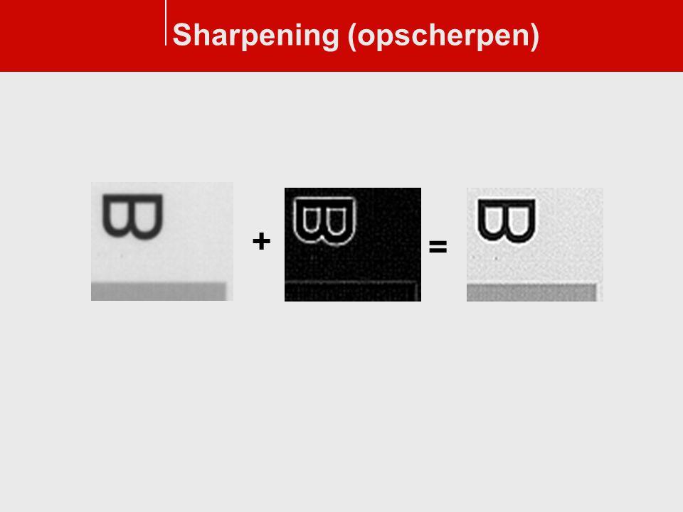 Sharpening (opscherpen)