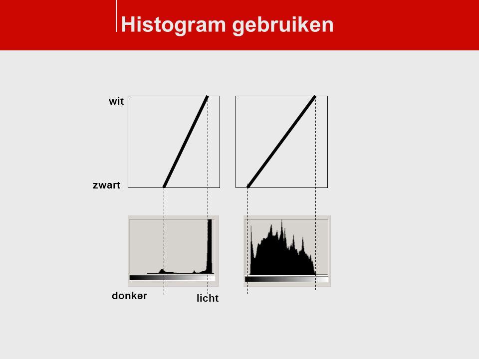 Histogram gebruiken wit zwart donker licht
