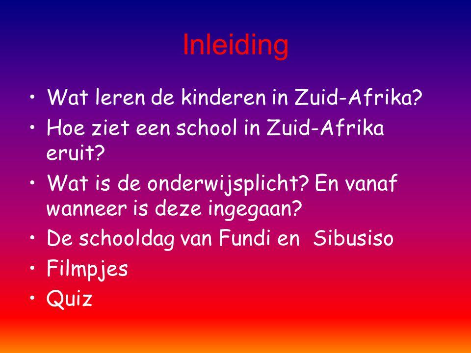 Inleiding Wat leren de kinderen in Zuid-Afrika