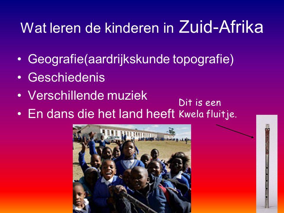 Wat leren de kinderen in Zuid-Afrika