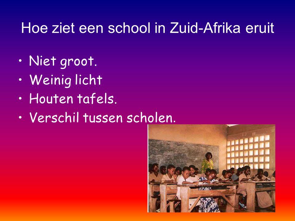 Hoe ziet een school in Zuid-Afrika eruit